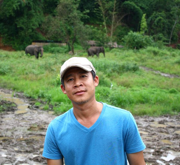 Owner of Karen Elephant Retreat ethical elephant tour Chiang Mai Thailand