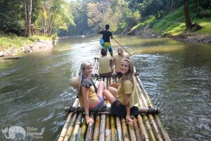 rafting after visiting elephant sanctuary thailand