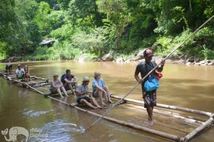 Elephant Delight ethical elephant tour bamboo rafting