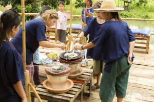 Elephant Green Hill making traditional Thai desserts