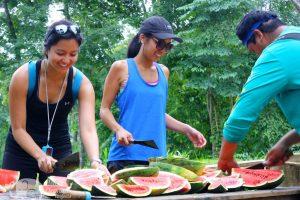 cutting watermelon at elephant highlands